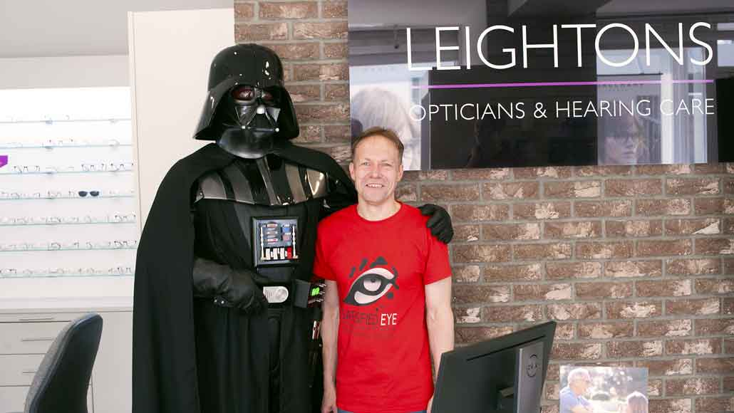 Darth Vader in Leightons Opticians