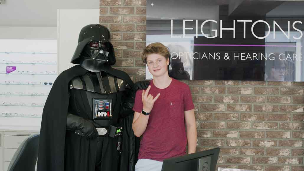 Darth Vader at Leightons Opticians in Epsom