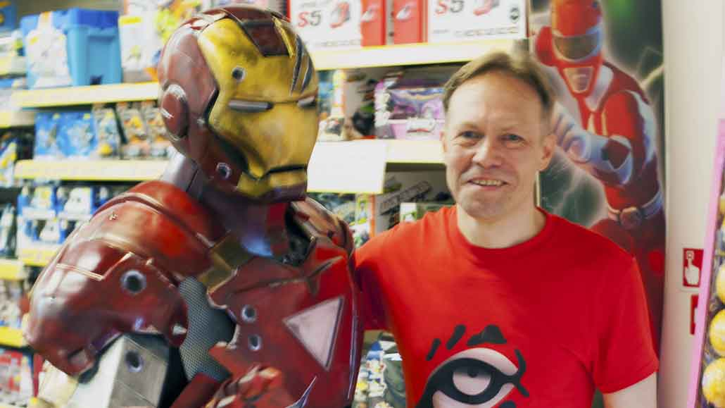 Iron Man at Waterstones in Epsom